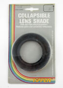 U199530 Tiffen Collapsible Rubber Lens Shade W/52mm Thread Mount New Old Stock