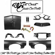 1966 Pontiac Gto Fenders Hood Hinges Scoop Core Support Latch Assembly Kit +