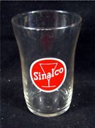 Old Sinalco German Soft Drink Advertising Glass Old Store Sttock