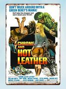 Chrome And Hot Leather Poster Movie Metal Tin Sign Antique Tin Signs