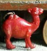 Vintage Celluloid Red Camel Charm Prize Jewelry