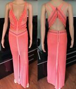 Versace Vintage Sexy Knitted Maxi Dress It 40