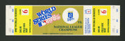 1985 World Series Ticket Signed/autographed By Sally K. Ride And Steven Hawley