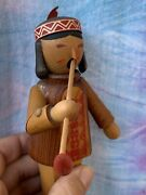 """Antique Steinbach Germany Incense Smoker American Indian Peace Pipe 8"""" ❤️sj8j"""