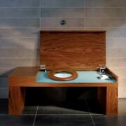 Villeroy And Boch City Life A270 Walnut Smart Bench With Concealed Toilet.andnbsp