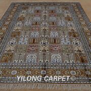 Yilong 6and039x9and039 Classic Silk Area Rug Handknotted Four Seasons Carpet Handmade 1220
