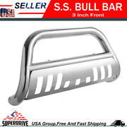 For 05-15 Toyota Tacoma Front Bumper Grille Guards Skid Plate Chrome Bull Bar