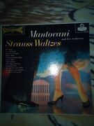 Mantovani And His Orchestra Strauss Waltzes Lp London Records Ps 118 Vg++ To E