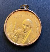 1953 Mexico Gold 200th Anniversary Birth Of Hidalgo Medal In Gold Bezel Pendant