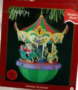 Carlton Cards Heirloom 1995 Lights And Motion Christmas All Around Carousel 66