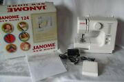Janome New Home 124 Electric Sewing Machine, White, Small, 5 Lbs, Ages 8+ New