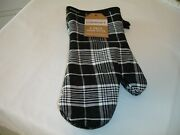 New 2 Pack Country Black Plaid Farmhouse Oven Mitt Kitchen Cotton Oven Mitts