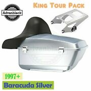 Baracuda Silver King Tour Pack Pak For Harley Street Road Electra Glide 97+