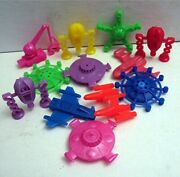 12 Ufo Space Ships And Flying Saucer Vending Machine Toy Prizes Old Store Stock