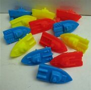 10 Alka Seltzer Speed Boats Vending Machine Toy Prizes Unused Old Store Stock