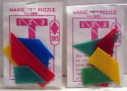 10 Magic T Puzzle Gumball Vending Machine Toy Prizes Old Store Stock