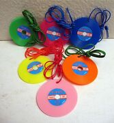 6 Disco Records Necklace Charms Gumball Vending Machine Toy Prizes Old Stock