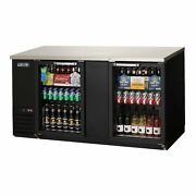 Everest Ebb69g 68 Two Section Back Bar Cooler With Glass Door 24.0 Cu. Ft.