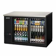 Everest Ebb48g-sd 49 Two Section Back Bar Cooler With Glass Door 13.0 Cu. Ft.
