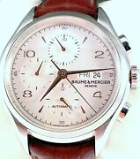 2019 Baume And Mercier Clifton Automatic Chrono Mens Watch 65731 Excellent Cond.