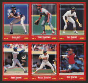 1988 Score Six 6 Red Baseball Upside Down Wrong Back Promos Test Cards Scarce