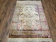 3and039 X 4and0393 Antique Authentic Fine Hand Made Turkish Silk Rug Tree Of Life Birds