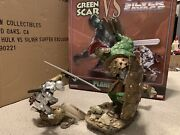 Sideshow Planet Hulk Green Scar Vs Silver Surfer Savage Exclusive Statue 544/900