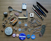 Junk Drawer Group With Pens Coins Jewelry And Much More