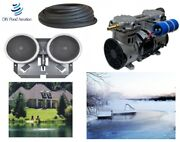 Large Pond Aerator Kit 50' Poly Tube 2 Diffusers+weighted Base New 1/2hp Pump