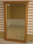 L39692 Friedman Brothers 6266 Carved Frame Beveled Glass Gold Mirror New