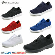 Dream Pairs Mens Fashion Running Shoes Outdoor Indoor Athletic Sneakers Black