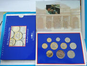 1994 France Brilliant Uncirculated Mint French 10 Coin Year Set Money 1c-20franc
