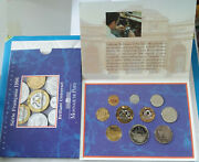 1996 France Brilliant Uncirculated Mint French 10 Coin Year Set Money 1c-20franc