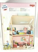 New Haba Little Friends Medium Dollhouse Dream-house For 4 Bendy Doll Two Rooms