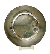Georg Jensen Sterling Silver Hand Hammered Plate Charger 587c Mid Century