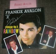 Frankie Avalon Autographed Album And Photos- Very Collectible