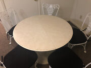 Antique Woodard Dining Table And 5 Chairs
