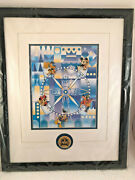 2000 Disney Convention Its A Small World Framed 5 Pin Set Nib Artist Signed Le