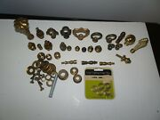 Large Lot Assorted Lamp Parts Chandelier Finials Fittings Etc