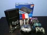 Sony Playstation 3 Super Slim 250gb W/ Box, 8 Games, 7 Controllers Ps1/ps2/ps3