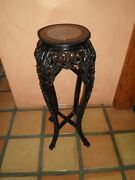 Intricately Hand Carved Antique Plant Stand