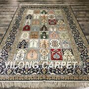 Yilong 6and039x9and039 Classic Handmade Silk Rug Antique Classic Four Season Carpet 033m