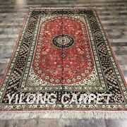 Yilong 5'x8 Red Handmade Classic Silk Area Rug Antique Hand Knotted Carpet W190c