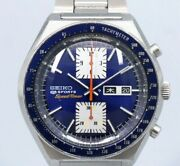 Seiko 5 Ports Speed Timer Original Blue Dial Automatic Vintage Watch 1975and039s