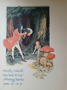 1931 Plate Hook And Wendy By Gwynedd Hudson From Peter Pan And Wendy J.m.barrie