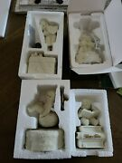 Lot Of 4 Dept 56 Snowbabies Music Boxes Euc 7972-3, 68921, 68832, And 56-06942