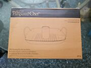 Rare The Pampered Chef Bbq Grill Roasting Pan And Can Holder 2714 Discontinued