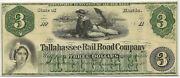 1800and039s 3 Tallahassee Rail Road Company Tape On Reverse Priced Right