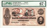 20 18__ Proof Rome Ga- Bank Of The Empire State Pmg Superb Gem 67- Stunning