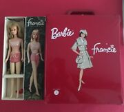 Vintage Barbieandrsquos Francie Doll + Travel Case Made In France 1966